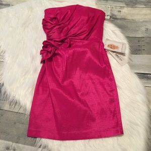 NWT Jessica McClintock Magenta Dress size 1
